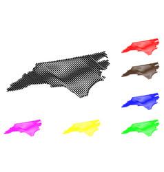 North carolina map vector