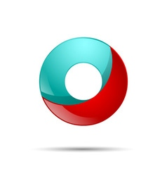 Number zero 0 colorful 3d volume icon design for vector