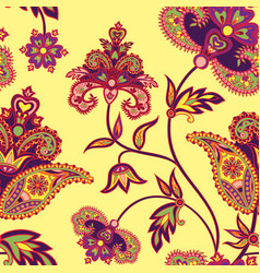 Oriental seamless pattern floral background vector
