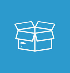 packaging box icon with umbrella symbol shipping vector image