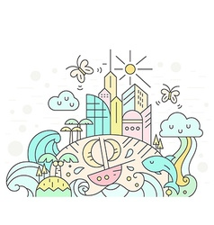 Pastel City vector