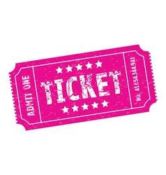 Pink ticket vector
