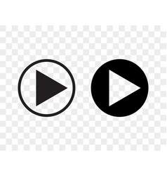 play button icon music audio and video player vector image