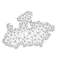 Polygonal 2d mesh map of madhya pradesh vector