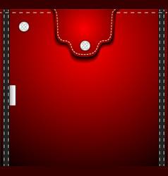 Red denim pocket vector