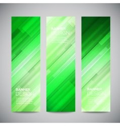 Reed low poly vertical banners set with vector