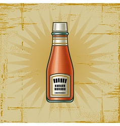 Retro Ketchup Bottle vector image