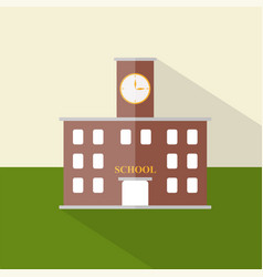 school icon set of great flat icons design vector image