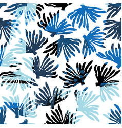 sea seamless pattern with hand drawn vector image