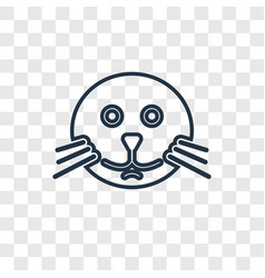 seal concept linear icon isolated on transparent vector image