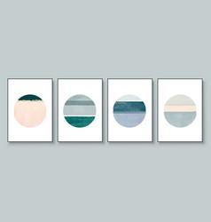 set abstract hand painted circle for wall vector image