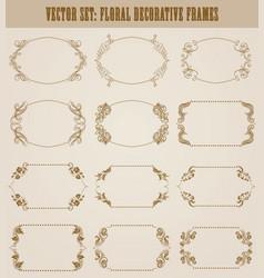 set of decorative hand drawn elements vector image
