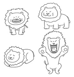 Set of lion vector