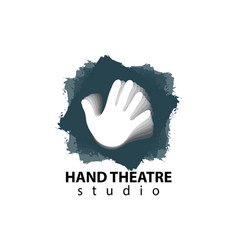 Set of plastic hands theatre studio logo design vector