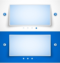 Set of web image sliders vector image