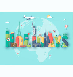 summer holidays travel and tourism concept vector image