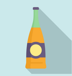 supermarket soda bottle icon flat style vector image