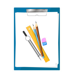tablet for paper with pencils vector image