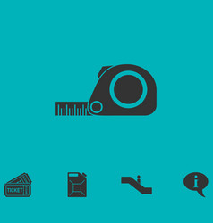 tape measure icon flat vector image