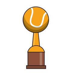 Tennis trophy sport golden image vector