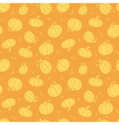 Thanksgiving golden pumpkins seamless pattern vector