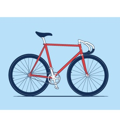 Track Bike vector image