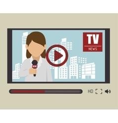Tv news design vector