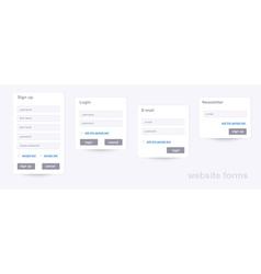Website forms vector