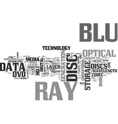 What is blu ray text word cloud concept vector