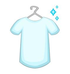 white shirt icon cartoon style vector image