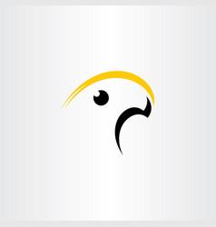 yellow black bird logo icon symbol element vector image