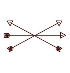 brown arrow symbol icon vector image