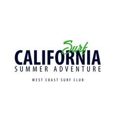 california surfing emblem or logo vector image vector image