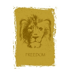 lion head hand drawn vector image vector image