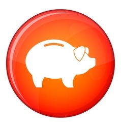 Piggy icon flat style vector image vector image