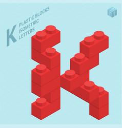 plastic blocs letter j vector image vector image