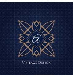 Simple and elegant monogram design template vector image vector image