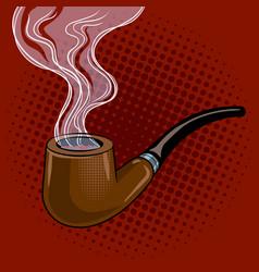 Smoking pipe pop art vector