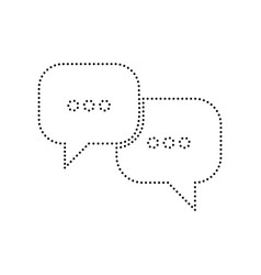 speech bubbles sign black dotted icon on vector image vector image