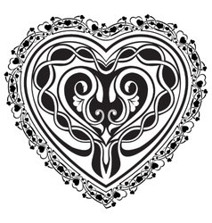Valentine Day tatto heart vector image