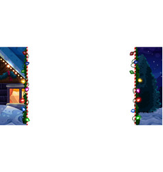 christmas borders isolated on white vector image vector image