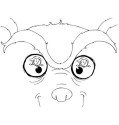 Coloring bad wolf eyes vector