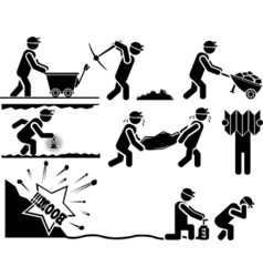 ICON MAN MINERS vector image vector image