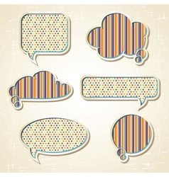 Pattern Speech Bubbles Dialog set vector image vector image