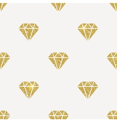 Seamless background Glitter gold diamonds vector image vector image