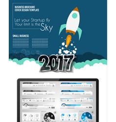 startup landing webpage or corporate design vector image vector image