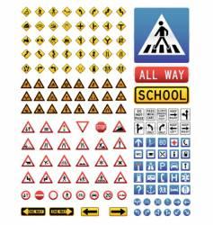 traffic signs set vector image