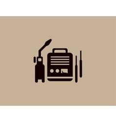 welding machine icon vector image