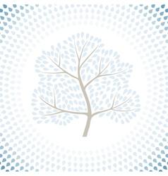 Winter tree season abstract background vector image