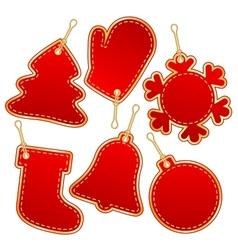 christmas label design elements vector image
